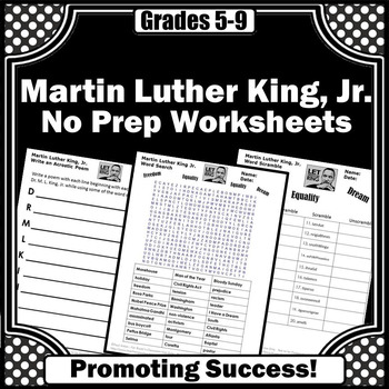 Martin Luther King Jr. Activities, Black History Month Activities