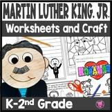 Kindergarten First Grade Martin Luther King Jr Activities and Craft