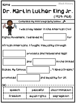 Martin Luther King Jr. Activities and Fun Facts