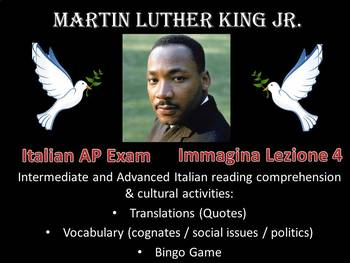 Martin Luther King Jr. Activities in Italian black history