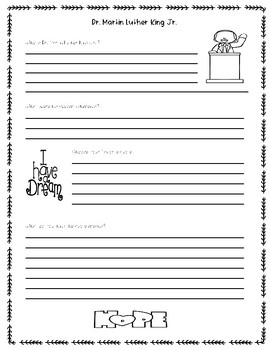 Dr. Martin Luther King Jr. Activity (Martin's Big Words Book Companion)