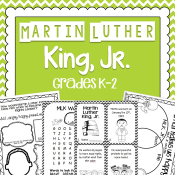 Martin Luther King, Jr. Activity | Printable Worksheets | Black History Month