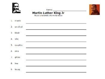 Martin Luther King Jr Activity Packet