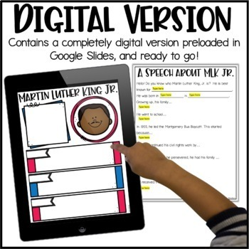 Martin Luther King, Jr. Activity - Research Project, Speech & Poster