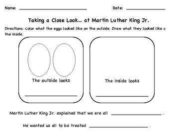 Martin Luther King Jr. Activity: Teaching Equality