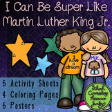 Martin Luther King Jr. Activity Worksheets, Coloring Pages Posters