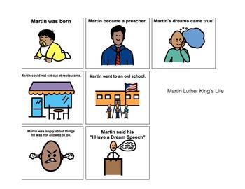 Martin Luther King, Jr. Adaptive Book + Comprehension Acitivties autism-lang tx