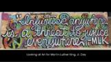 Martin Luther King Jr. Art Discussion Google Slides