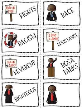 Martin Luther King, Jr. Articulation Cards (R, R-Blends, S, L)