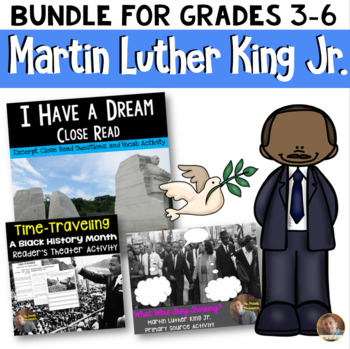 Martin Luther King Jr. BUNDLE: Includes all MLK Activities- Grades 3-6