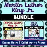 Martin Luther King Jr. BUNDLE: MLK Escape Room and Collaborative poster