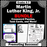 Black History Month Activities Bundle, Martin Luther King Jr Facts, Task Cards