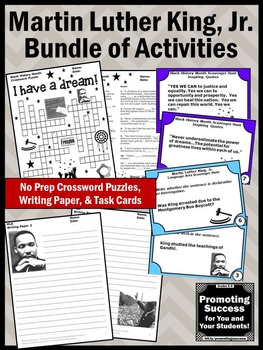 Black History Month Activities Bundle, Martin Luther King Jr Activities