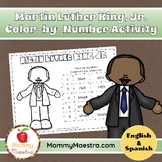 Martin Luther King Jr. Bilingual Coloring Activity