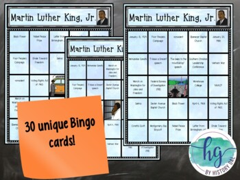 Martin Luther King Jr. Bingo