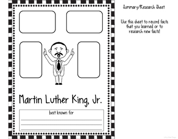 Martin Luther King, Jr. Biographical Flipper
