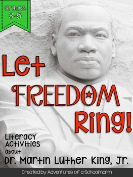 Martin Luther King Day Grade 3 4 5 Leveled Reading and Activities