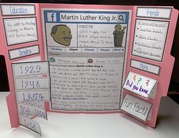 Martin Luther King Jr. Biography Lapbook