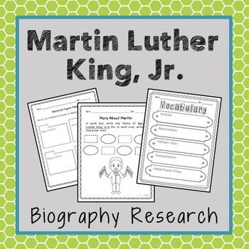 Martin Luther King, Jr. Biography Research, Civil Rights,