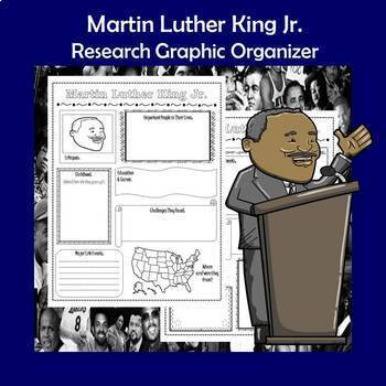 Martin Luther King Jr. Biography Research Graphic Organizer