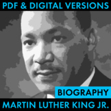 Martin Luther King Jr. Biography Research Organizer, Easy