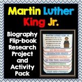 Martin Luther King Jr. Biography Research Project, Flip Book, Activity Pack