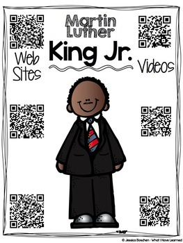 Martin Luther King Jr. Biography Research Report {QR Codes} - FREE