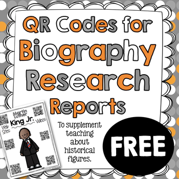 Martin Luther King Jr. Biography Research Report QR Codes - FREE