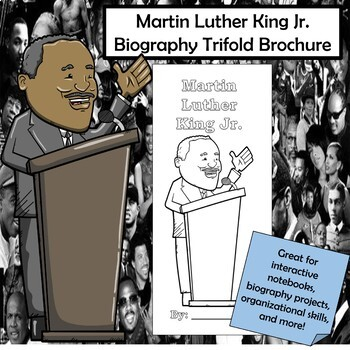 Martin Luther King Jr. Biography Trifold Brochure