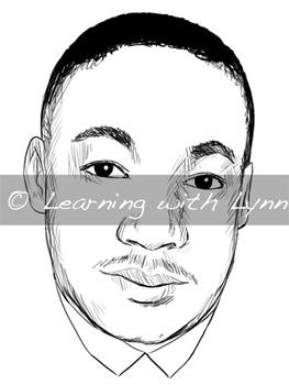 Martin Luther King, Jr. - Black History Month Clip Art