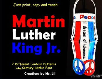 Martin Luther King Jr Activity ::  Black History Month ::  MLK Day crafts