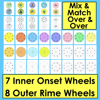Martin Luther King, Jr. Blending Build A Word Wheels-Make Up To 63 Wheel Sets