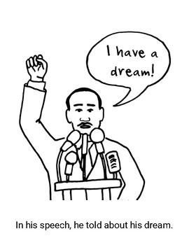 Martin Luther King Jr Book & Activity: Kindergarten and First Grade - MLK Day