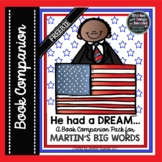 Martin Luther King Book Companion-Martin's Big Words{FREEBIE}
