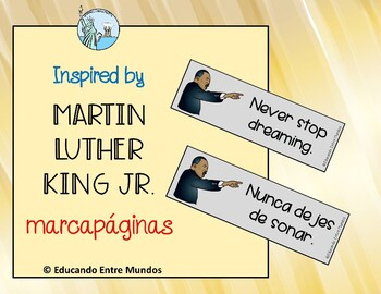 Martin Luther King Jr. Bookmarks ENGLISH AND SPANISH