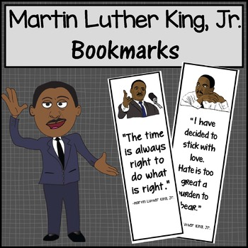 Martin Luther King Jr Bookmarks By Windup Teacher Tpt