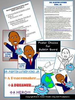 Martin Luther King, Jr. Bulletin Board Craftivity & Writing Common Core Aligned