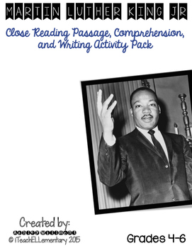 Martin Luther King, Jr. CLOSE READ **FREE**