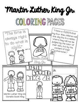 Martin Luther King Coloring Sheets Worksheets Teaching Resources Tpt