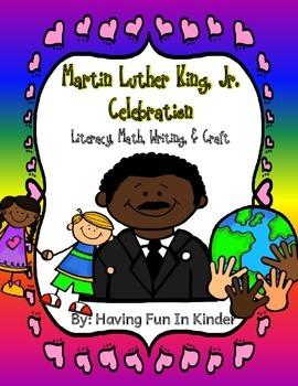 Martin Luther King Jr Celebration Literacy, Math, Writing, Science, Craftivity