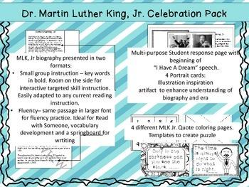 Martin Luther King, Jr Celebration Pack - 2nd/3rd Grade