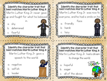 Martin Luther King Jr. - Character Trait Task Cards