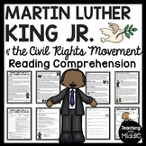 Martin Luther King Jr. & Civil Rights Reading Comprehension Black History