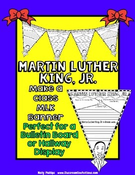 Martin Luther King, Jr. Writing Pennant Banner