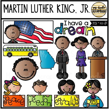 Martin Luther King, Jr. (Clip Art for Personal & Commercial Use)