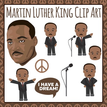 Martin Luther King Jr. Clip Art Pack for Commercial Use