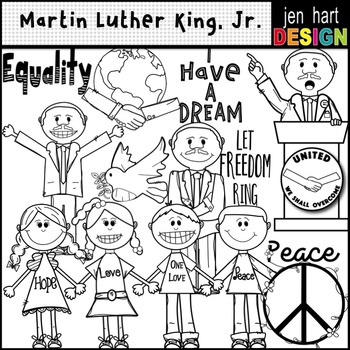 Martin Luther King, Jr. Clipart