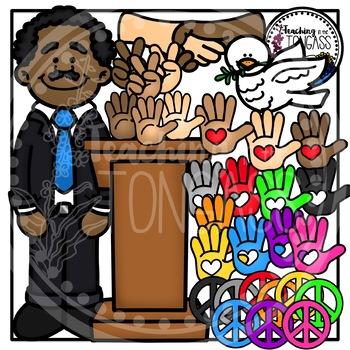 Martin Luther King Jr. Clipart Bundle