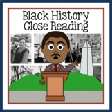 Black History Month Close Reading Texts and Writing Activities