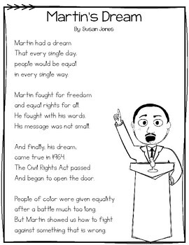 Martin Luther King Jr Close Reading Passage Poem By Susan Jones